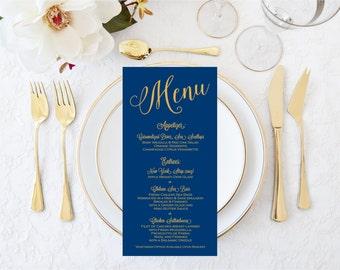 REAL Gold Foil Printed  Menus-Gold Foil Menus-Wedding Menus-Shower Menus