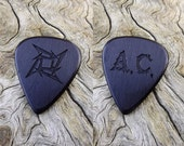 Custom Order - Handmade African Blackwood Custom Laser Engraved Premium Guitar Pick