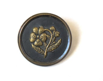 Floral Large Metal Picture Button