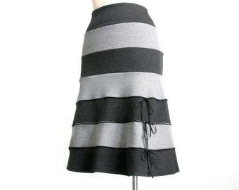 Striped skirt, long bell skirt, aline skirt, plus size skirt  - elegant and romantic, made to order