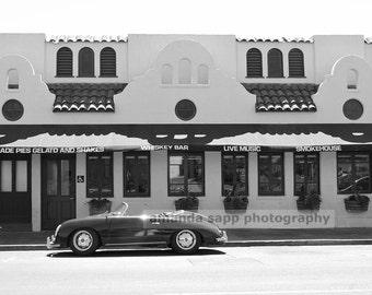 Sonoma Street black and white photograph