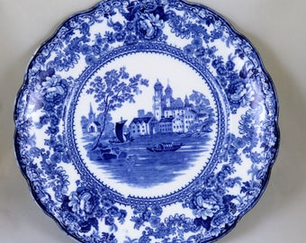 Togo Pattern, Early 1900's, Flow Blue Dinner Plate(s) (8 Available)