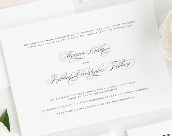 Classic Vintage Wedding Invitations - Sample