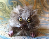 TINY FIZZGIG SCULPTURE, 1.25 Inch Tall Fuzzy Cute Monster Creature from The Dark Crystal One of a Kind ooak Fantasy Film Nostalgia Fizzgigs