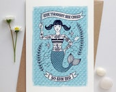Mermaid Card | Congratulations Card | Girls Graduation Card | Well Done Card | Cards for Girls | Girl Grads Card | Encouragement Quote Card