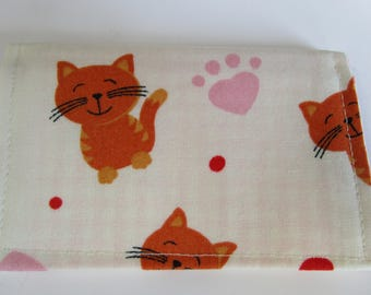 Kittens and Cats Fabric credit card Wallet, Neko cats, Loyalty Card Holder, Gift Card Wallet, Business Card Holder, Small Wallet, Kitties