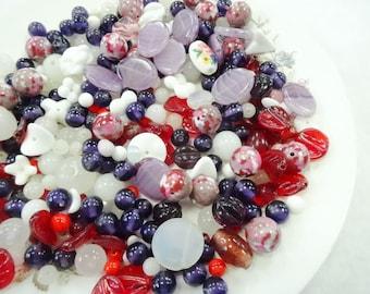 Beautiful Baubles Vintage Estate Glass Beads Salvage For Jewelry Artist Destash Lot Broken Necklaces