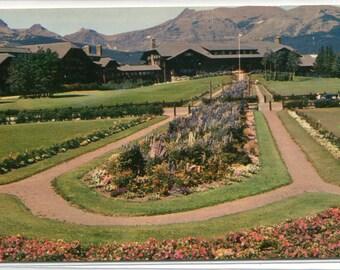 Glacier Park Lodge National Park Montana 1960s postcard