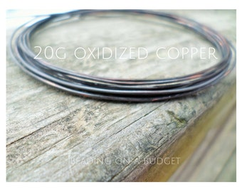 20g Oxidized Copper Wire Dead Soft 5-100ft