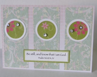 Be Still And Know That I Am God Christian Encouragement Card With Scripture