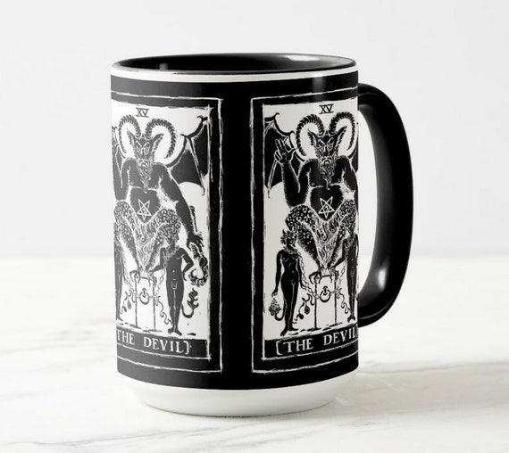 Devil Tarot Card coffee or tea mug