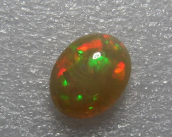 WELO Ethiopian OPAL - Amazing Unique Pcs Top Quality - Full Color Full Flash Fire - Oval Shape Cabochon Huge Size - 14x17 mm - Height 9 m