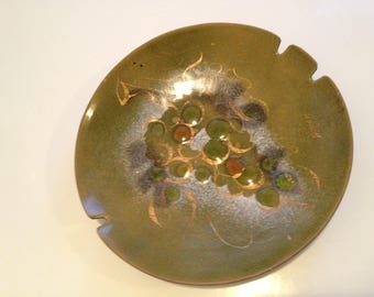 Mid Century Modern Copper Enamel AshTray