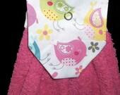 Hanging Kitchen Towels - Pink Bird Top