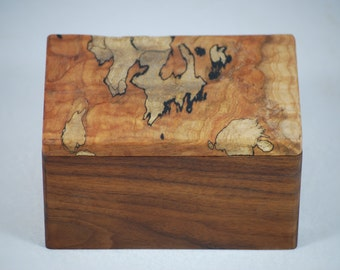 Walnut and Spalted Maple Jewelry Box