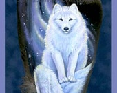 Magical Arctic Fox Feather Print