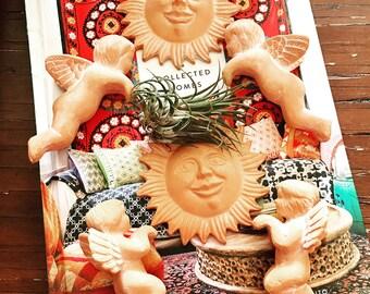 Set of 6 Vintage Terracotta Plant/Garden Decorations