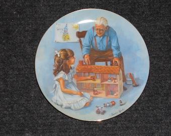 Vintage Sandra Kuck Grandparents Plate-w/box & papers