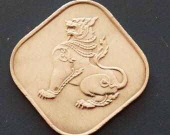 Burma 10 Pyas Coin