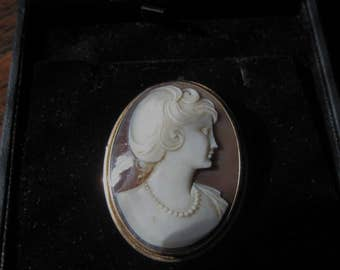 Antique 14k carved Cameo-Italy 2 inches long-sale
