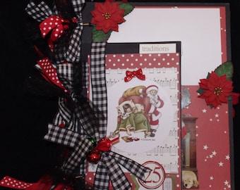 Family Christmas 8.5x11 premade scrapbook album