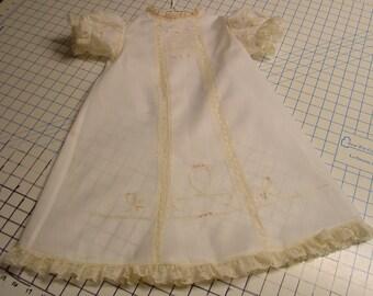 Heirloom dress size 2 white/ecru hand embroidery portrait wedding beach wedding flower girl