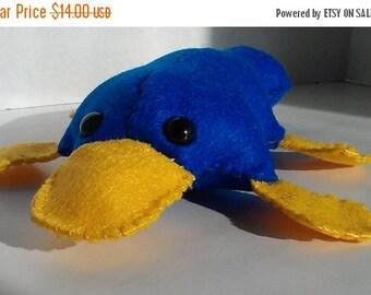 ON SALE Platypus stuffed animal plush- handsewn felt stuffie