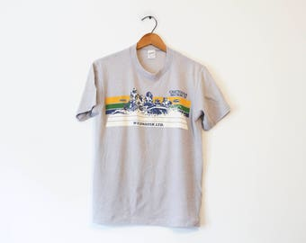 Vintage Chattooga Section IV Wildwater White Water Rafting T Shirt