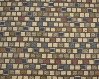 REMNANT Contemporary Upholstery Chicklet Fabric 58 inches x .875 yards