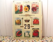 Vintage Garden Variety Seed Packet Perpetual Calendar
