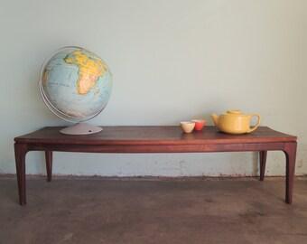 MID CENTURY Modern Angled Wood Coffee Table (Los Angeles)