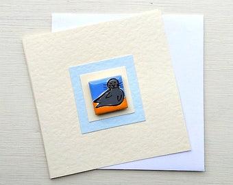 Seal Card, Birthday Card, Greeting card, Blank Card, Magnet Card, Seaside, Childrens Card