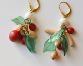 Fruit Earrings Vintage Carmen Miranda Earrings Pierced