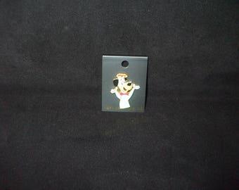 Vintage Hanna Barbera HUCKLEBERRY HOUND Enamel Pin So Cute