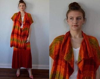 Vintage 1970s Chacok Knit Suit, Chacok, 1970s Ladies Suit, Vintage Skirt Suit, Boho, Vintage Chacok, 1970s Knit Suit, Knit Set