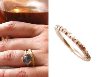 Meteorite wedding band | commitment ring | rose gold wedding band women | wedding bands women | meteorite ring | meteorite band |size 9 ring
