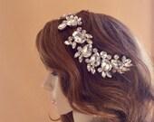 Gold Bridal Hairpiece, Gold Bridal Headband, Gold Bridal Headpiece, Gold Wedding Hairpiece, Gold Wedding Headband, Gold Wedding Headpiece
