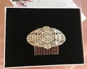 Art Deco Wedding, Gold Deco Jewelry, Silver Flapper Headband, Silver Deco Headpiece, Silver Deco Comb, 1920s Deco Jewelry