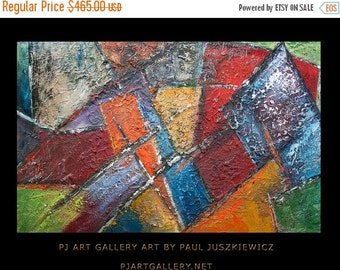 """17% OFF /ONE WEEK Only/ Mirrors abstract by Paul Juszkiewicz 48""""x30"""" Deep Texture"""