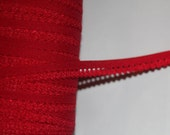 """20 yards Cherry Red sewing craft Picot Lingerie Stretch loop sewing Elastic 1/2"""" wide"""