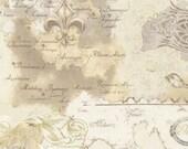 Antique World Map Metallic Fabric - Custom Order
