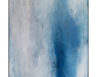 Abstract Seascape Original Painting on Canvas Contemporary/Modern Painting  - 40x52 - Turquoise, White, and more