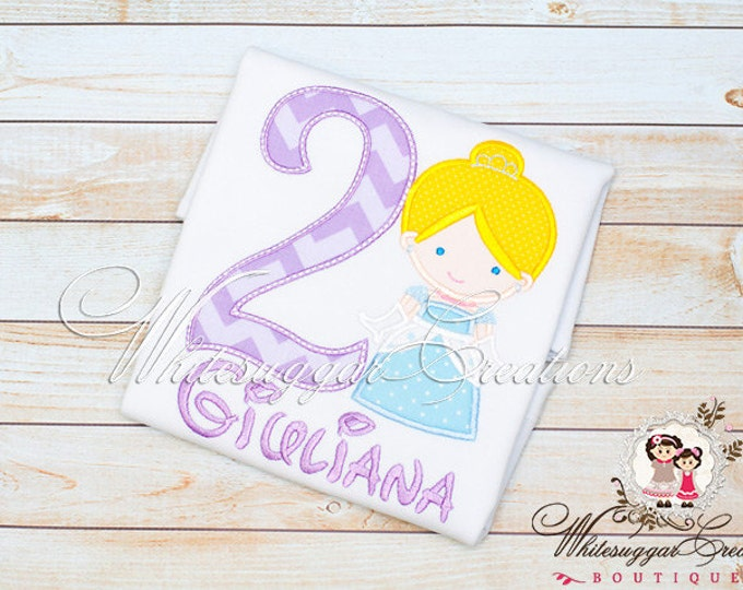 Girls Cinderella Birthday Shirt - PREMIUM Birthday Shirt - Princess Birthday Shirt