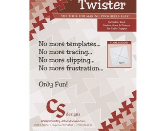 """Lil' Twister Tool by Twister Sisters - Quilting Tool for use with 5"""" Charm Packs"""