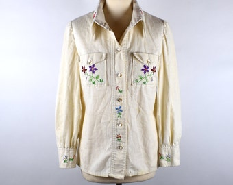 1960's Embroidered Hippie Blouse