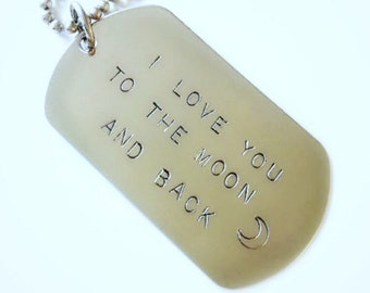 CUSTOM Dog Tag Keychain