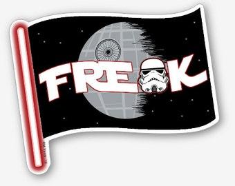 "Star Wars Freak Flag 4"" vinyl sticker"