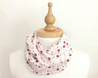 Infinity Scarf,Eternity Scarf,Polka Dot Scarf,Womens Accessories,Scarves &Wraps,for Woman,Gift Ideas For Her,Mom Gifts,Under 25,Handmade