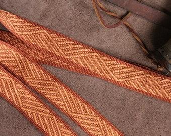 Historic Costume, Handwoven Sash or Strap, Linen & Hemp