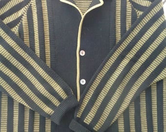 1960s vintage  Oleg Cassini mens Italian knit sweater